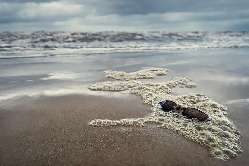 a shaded beach
