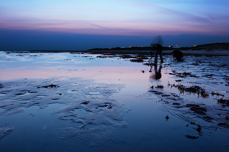 as night begins / 3x2 + night shots [long exposures] + fylde coast [scenic]