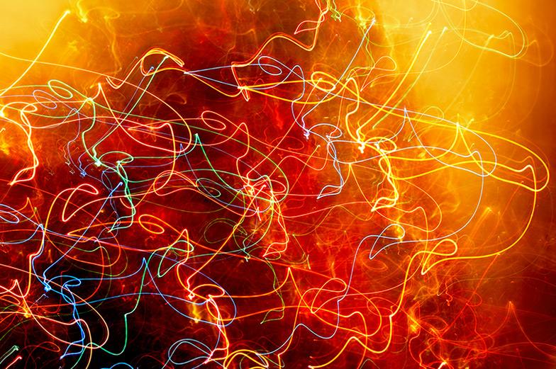 Christmas fireflies