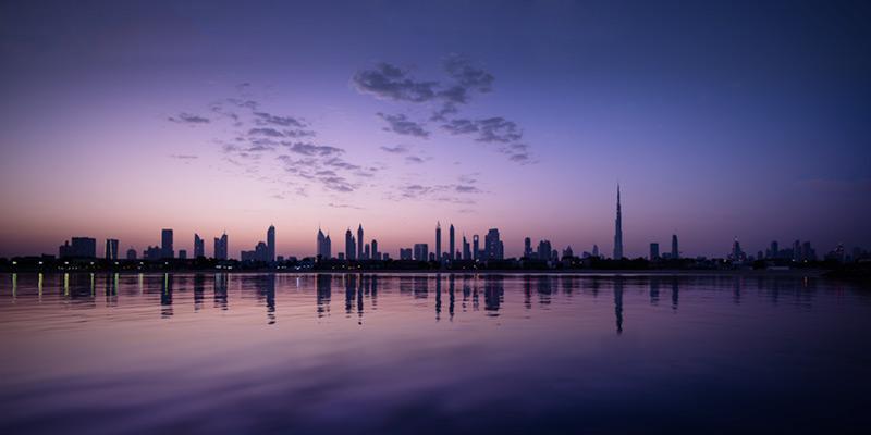 Dawn's first light, Dubai