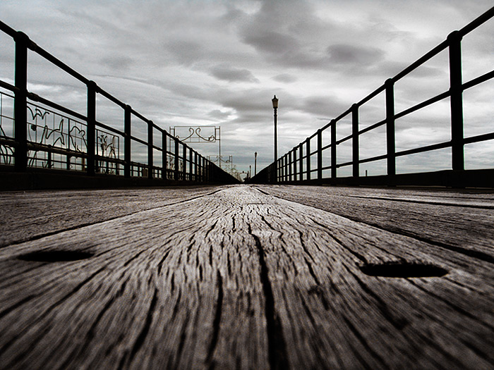 down on the pier