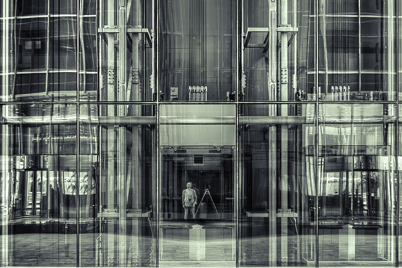 dubai self portrait / 3x2 + HDR + travel [Dubai, UAE] + reflections [glass]