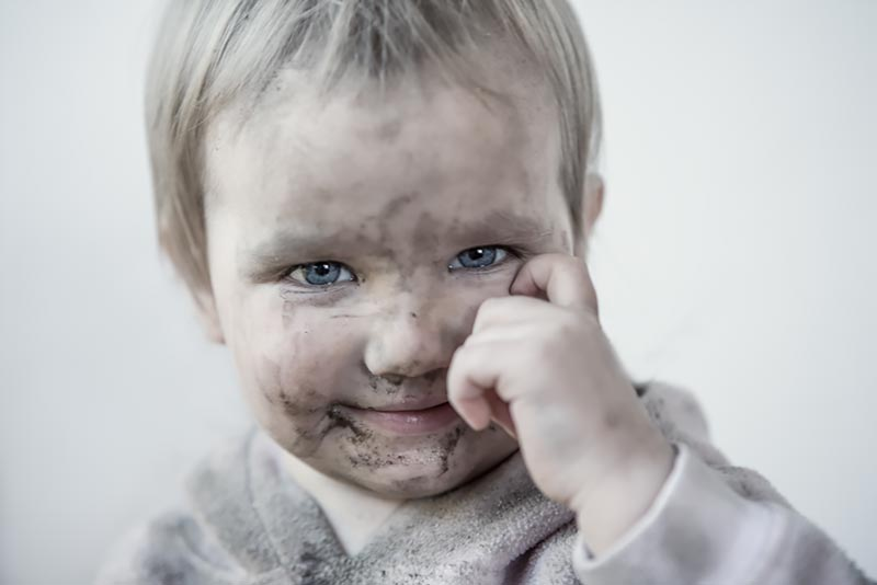 I will play with soil! / 3x2 + children [portraits] + show the original