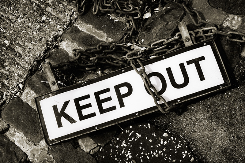 keep out #6