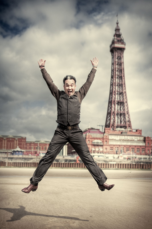 maurice #1 / Blackpool Tower + HDR + people [portraiture] + commissions + no print