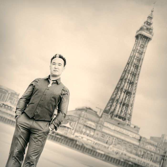 maurice #2 / Blackpool Tower + people [portraiture] + commissions + no print