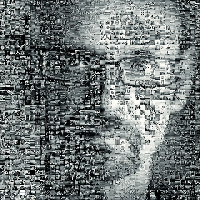 mosaic portrait / 1x1 + people [portraiture] + digital art + self-portrait