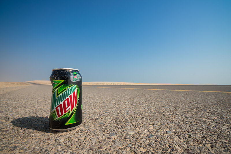 on the road in Oman (Mountain Dew)