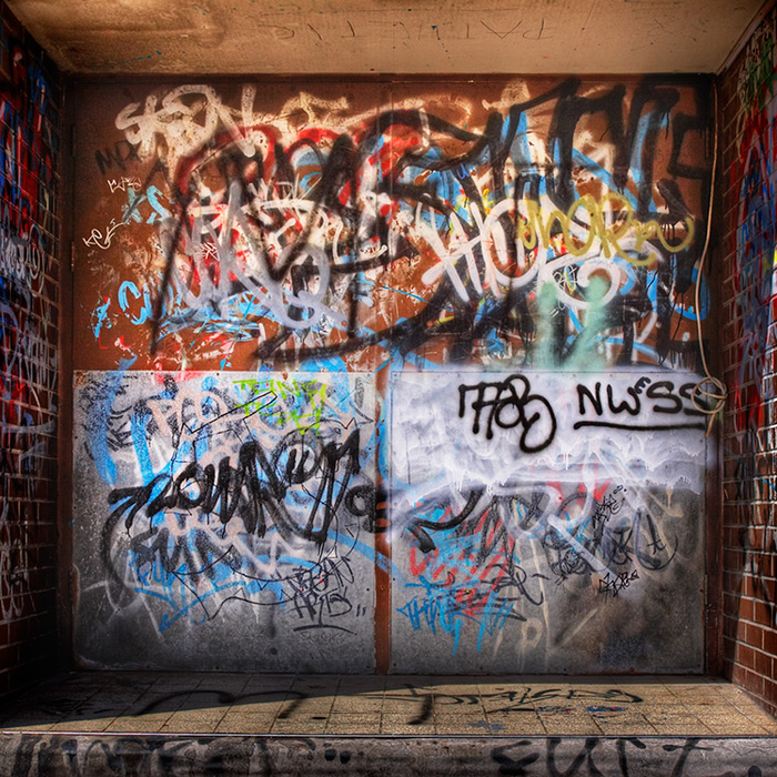 open sesame / 1x1 + HDR + abstract + graffiti + urban