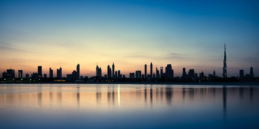 pre-dawn Dubai