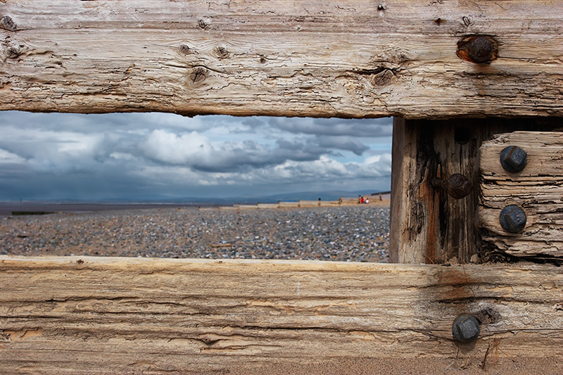 sea view, oak frame