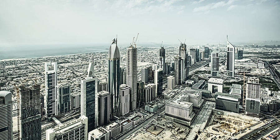Sheikh Zayed road / 2x1 + HDR + travel [Dubai, UAE]