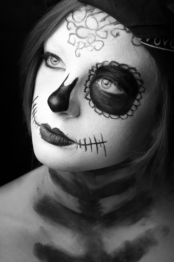 sugar skull #1 / 3x2 + camera [Fujifilm X-T1] + children [portraits] + show the original