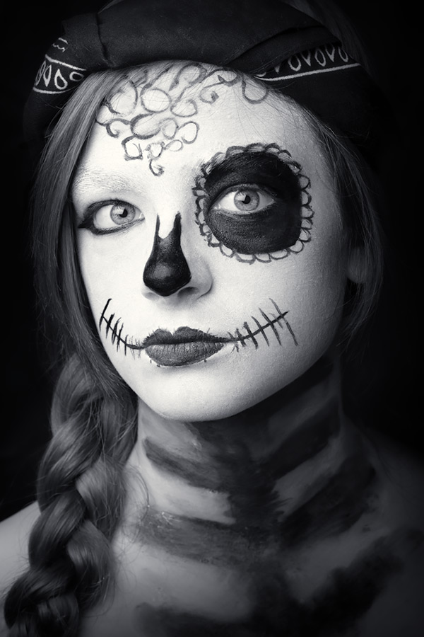 sugar skull #2 / 3x2 + camera [Fujifilm X-T1] + children [portraits] + show the original