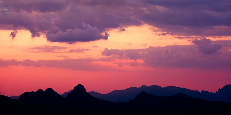 sunset at Jabel Shams