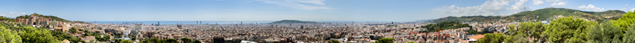 the barcelona skyline