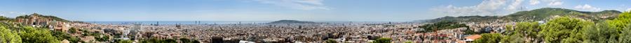 the barcelona skyline