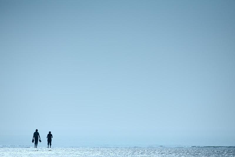 the blue, blue sky #2 / 3x2 + fylde coast [scenic] + people