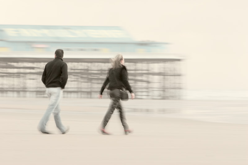 the lure of the sea / 3x2 + piers [Central pier] + fylde coast [scenic] + people