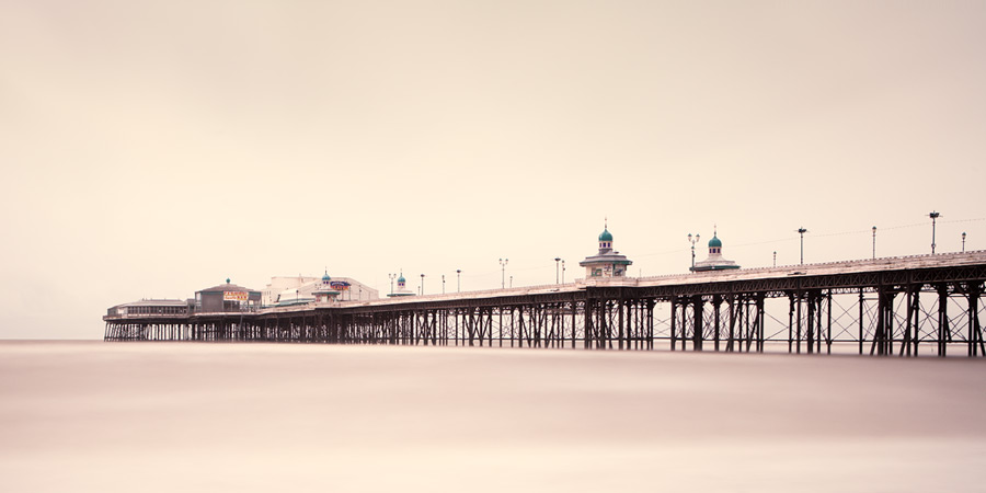 the tranquil sea / 2x1 + ND 113 + piers [North pier] + fylde coast [scenic]