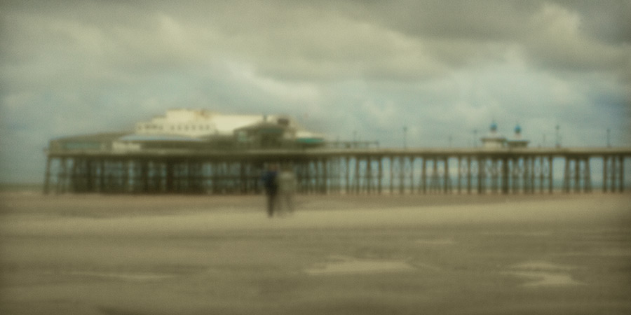 they walk alone / 2x1 + piers [North pier] + fylde coast [scenic] + people + pinhole photography