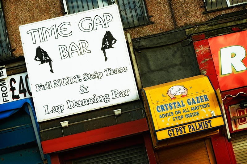 time gap bar