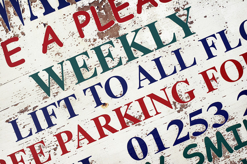 tourist typography