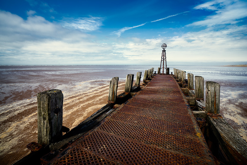 towards the horizon / 3x2 + camera [Sony A99] + piers [St. Annes] + fylde coast [scenic]