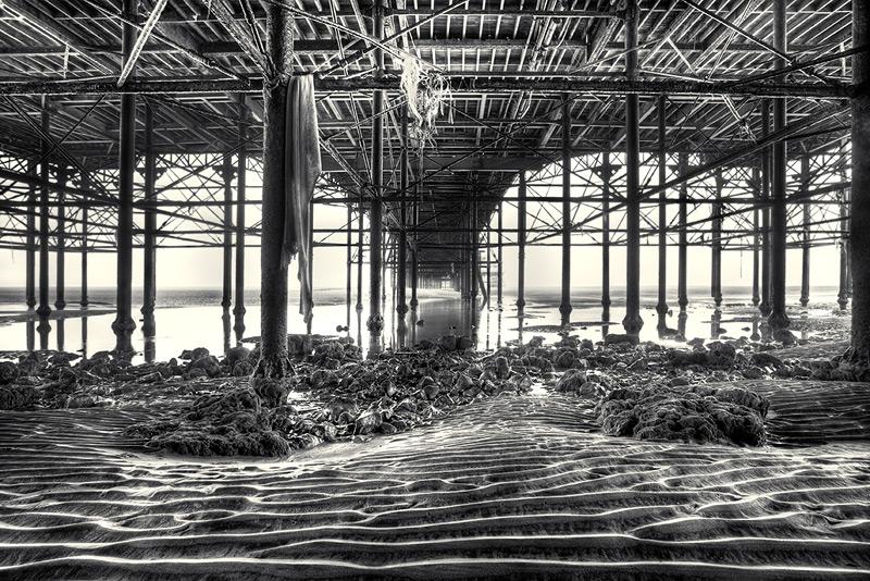 under central pier #2