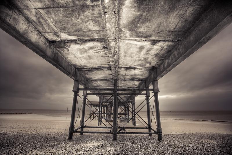under fleetwood pier / 3x2 + HDR + piers [Fleetwood] + fylde coast [scenic]