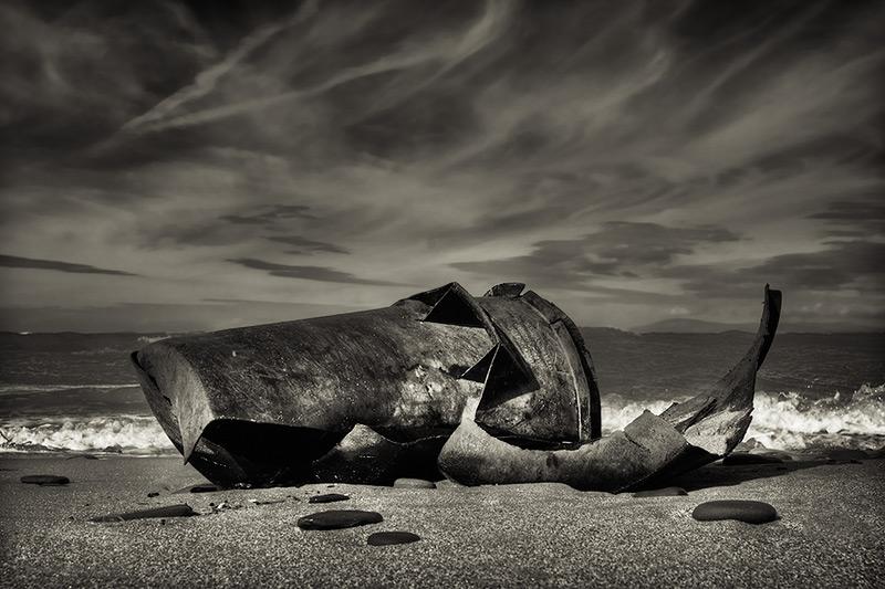 untitled #0035 / 3x2 + HDR + beachcombing + fylde coast