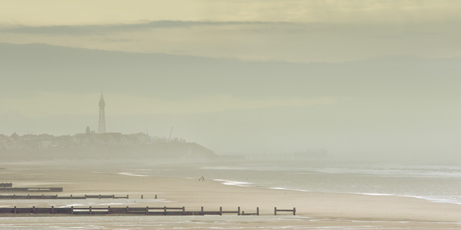 winter island #2 / 2x1 + Blackpool Tower + piers [North pier] + fylde coast [scenic]