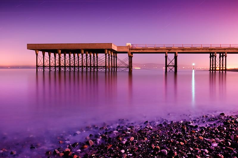 winter landing #2 / 3x2 + piers [Fleetwood] + night shots [long exposures] + fylde coast [scenic]