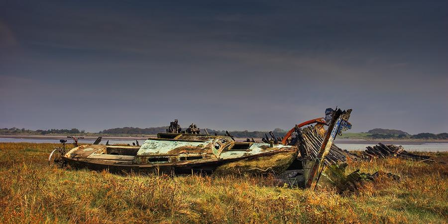 wyre wreck #12 / 2x1 + HDR + fylde coast [scenic]