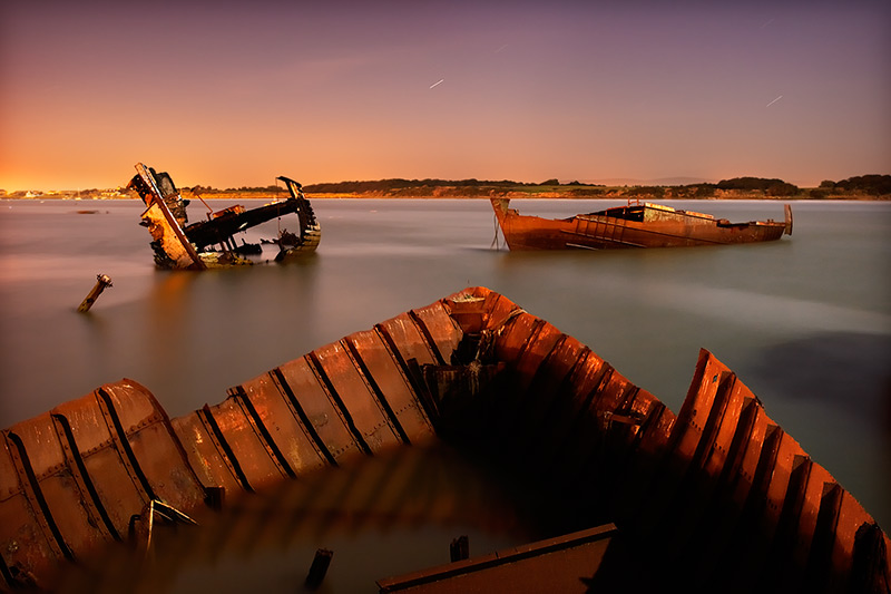 wyre wreck #9 / 3x2 + night shots [long exposures] + fylde coast [scenic] + reflections [water]